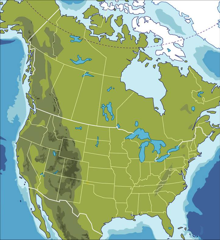North America Facts Geography Map