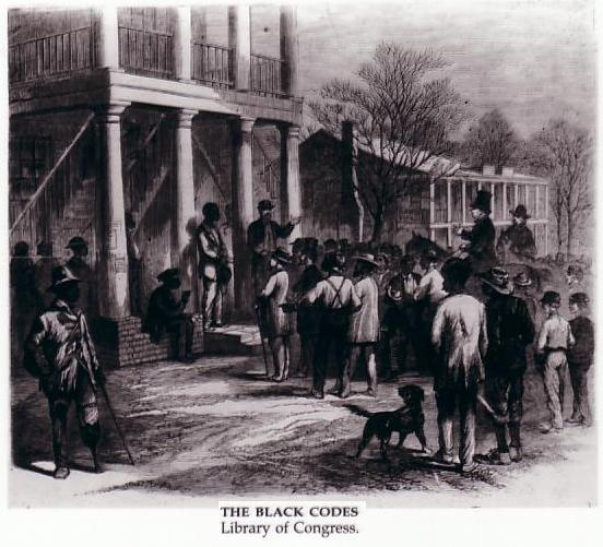 mississippi black codes 1865 Black codes was a name given to laws passed by southern governments that the white race was superior to the black  the governor of mississippi (june, 1865).