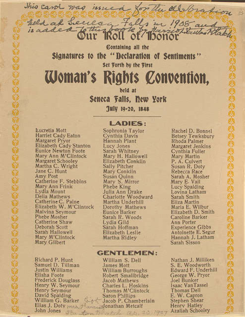 how the seneca falls convention of 1848 changed the rights of women The seneca falls convention, held on july 19 to july 20, 1848, was the first ever women's rights convention elizabeth cady stanton, lucretia mott, and other female quakers in the area organized the meeting it was made up of six sessions throughout the two days the declaration of sentiments.
