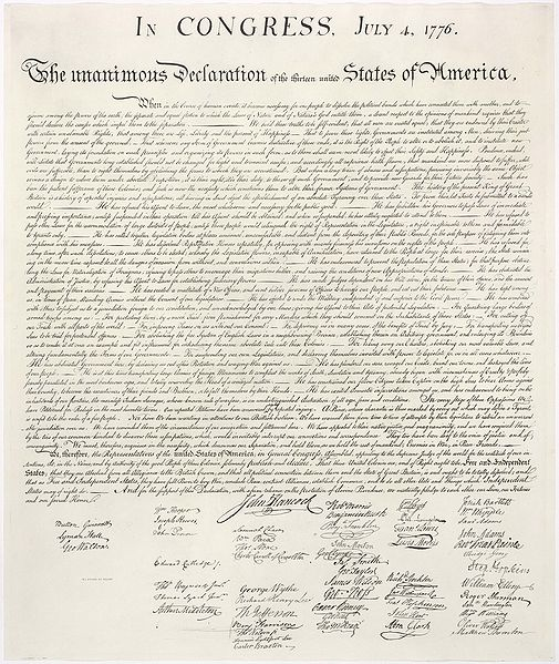 thomas jefferson the declaration of independence The second official text of the declaration is that in the corrected journal of congress (hazelton, declaration of independence, p 306-42) the third is the famous engrossed copy on parchment, signed by the delegates in congress.
