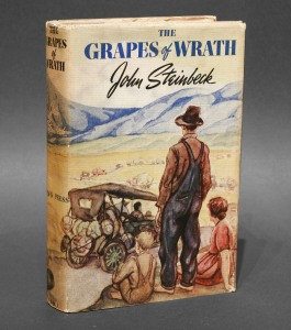 the okies migration to california in the novel the grapes of wrath by john steinbeck John steinbeck's quasi-documentary study of dust bowl immigrants inspired john ford's film, the grapes of wrath like steinbeck's book, the film follows the joads, an okie family trying to get to california in an overloaded jalopy filled with crying children, beaten-down people, and dying.