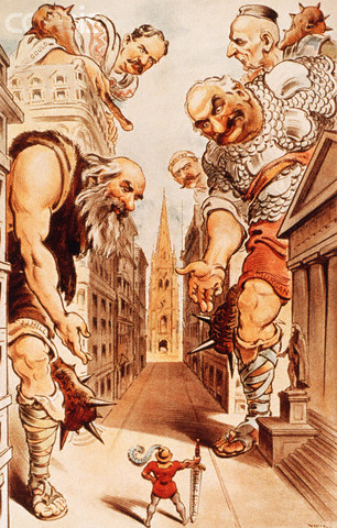 Jack and the Wall Street Giants Cartoon by Joseph Keppler